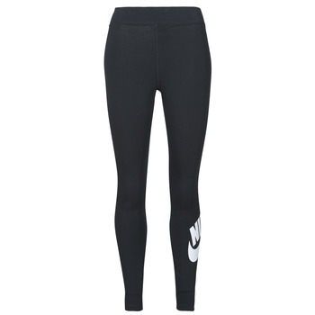 Clothing Women Leggings Nike NSESSNTL GX HR LGGNG FTRA Black / White