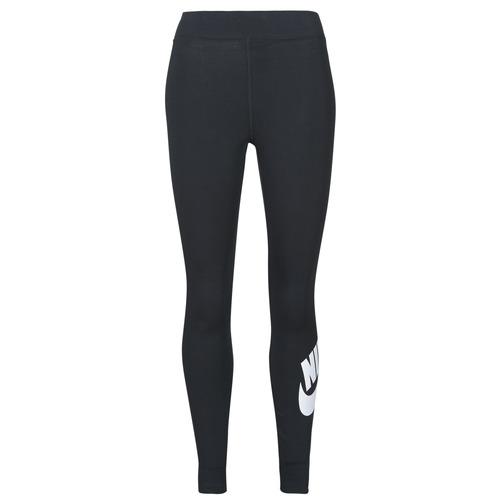 Clothing Women Leggings Nike NSESSNTL GX HR LGGNG FTRA Black / White