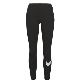 Clothing Women Leggings Nike NSESSNTL GX MR LGGNG SWSH Black / White