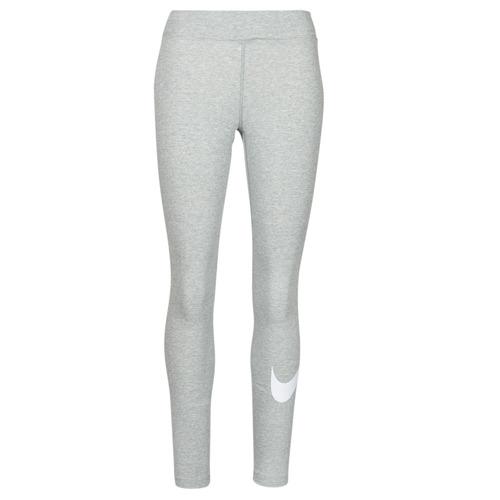 Clothing Women Leggings Nike NSESSNTL GX MR LGGNG SWSH Grey / White