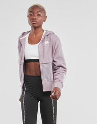 Clothing Women Sweaters Nike NSAIR FZ TOP FLC Purple / White