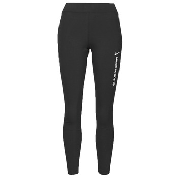 Clothing Women Leggings Nike NSSWSH LGGNG HR Black / White