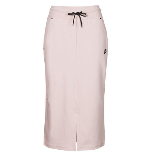 Clothing Women Skirts Nike NSTCH FLC SKIRT Beige / Black