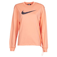 Clothing Women Long sleeved tee-shirts Nike NSICN CLSH LS TOP HBR Pink / Purple