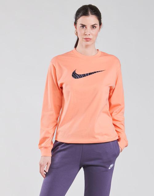 Clothing Women Long sleeved tee-shirts Nike NSICN CLSH LS TOP HBR Pink / Purple