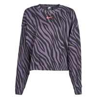 Clothing Women Sweaters Nike NSICN CLSH CREFLC AOP Purple