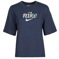 Clothing Women Short-sleeved t-shirts Nike NSTEE BOXY NATURE Blue