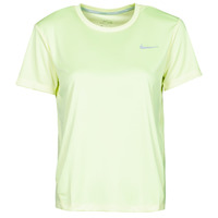 Clothing Women Short-sleeved t-shirts Nike MILER TOP SS Green / Grey