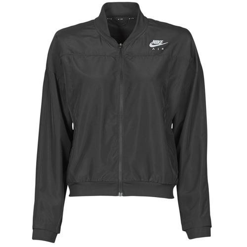 Clothing Women Macs Nike AIR JACKET Black / Silver