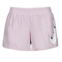 Clothing Women Shorts / Bermudas Nike SWOOSH RUN SHORT Purple / White