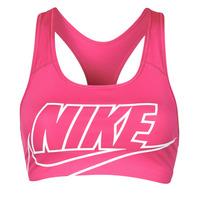 Clothing Women Sport bras Nike DF SWSH FUTURA GX BRA Pink / White