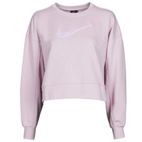 Clothing Women Sweaters Nike DRY GET FIT CRESWSH Purple / White