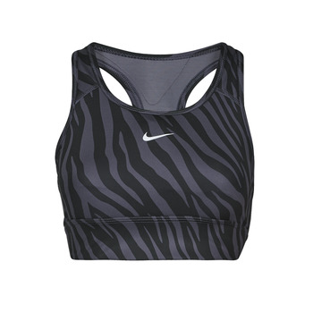 Clothing Women Sport bras Nike DF SWSH ICNCLH LNGLN  BRA Purple / Black