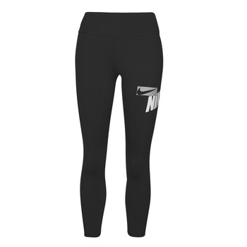 Clothing Women Leggings Nike NIKE ONE CROP HBR GRX TIGHT Black / White / Grey