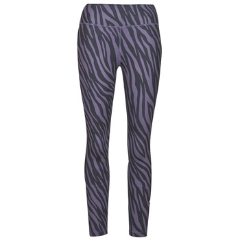 Clothing Women Leggings Nike NIKE ONE 7/8 AOP TGT ICNCLSH Purple / Black