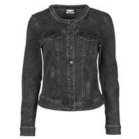 Clothing Women Denim jackets Vila VISASHI Black