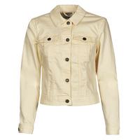 Clothing Women Denim jackets Noisy May NMDEBRA Yellow