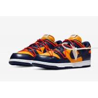 Shoes Low top trainers Nike SB Dunk Low x Off White University Gold Midnight Navy/Varsity Maize