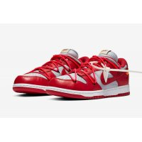 Shoes Low top trainers Nike SB Dunk Low x Off White University Red University Red/University Red-Wolf Grey