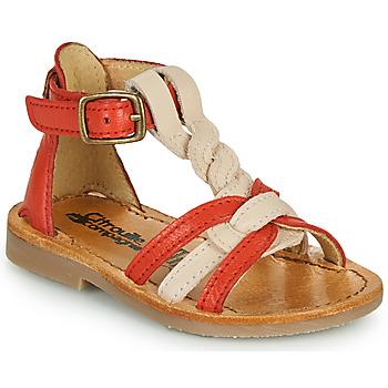 Shoes Girl Sandals Citrouille et Compagnie GITANOLO Coral / Pink