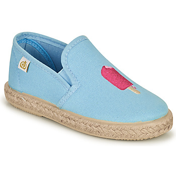 Shoes Girl Flat shoes Citrouille et Compagnie OCELESTE Blue / Sky