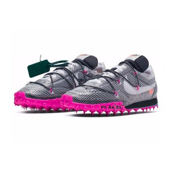 Shoes Low top trainers Nike Waffle Racer x Off White Black Black/White-Fuchsia