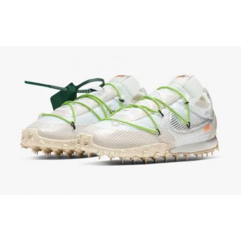 Shoes Low top trainers Nike Waffle Racer x Off White White White/Electric Green-Black