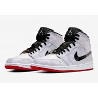 Shoes Hi top trainers Nike Air Jordan 1 Mid Fearless x CLOT White/Black/Red