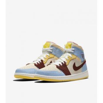 Shoes Hi top trainers Nike Air Jordan 1 Mid Fearless x Maison Château Rouge Pale Vanilla/Cinnamon