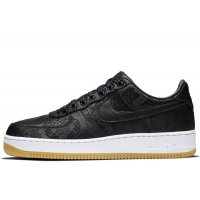 Shoes Low top trainers Nike Air Force 1 Low x CLOT x Fragment Black Black / University Red – White