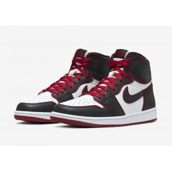 Shoes Hi top trainers Nike Air Jordan 1 High Bloodline Black/Gym Red-White