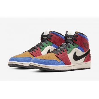 Shoes Hi top trainers Nike Air Jordan 1 Mid Fearless x Blue The Great Multicolore