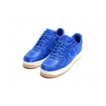 Shoes Low top trainers Nike Air Force 1 Low x CLOT Silk Blue Game Royal/White-Gum Light Brown
