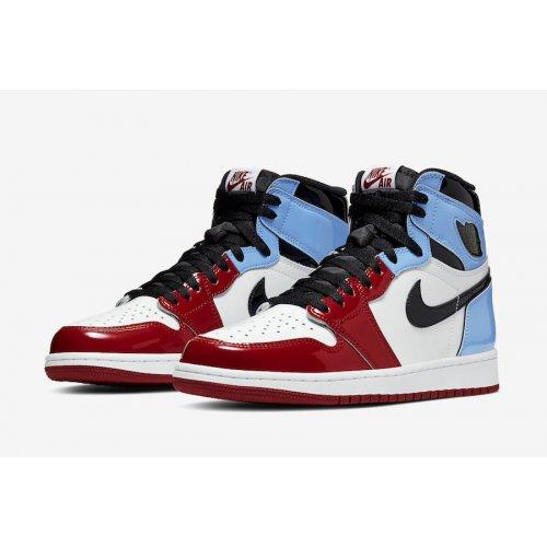 Shoes Hi top trainers Nike Air Jordan 1 High Fearless  White/University Blue-Varsity Red-Black