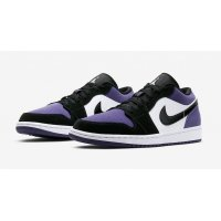 Shoes Low top trainers Nike Air Jordan 1 Low Court Purple  Court Purple/Black-White