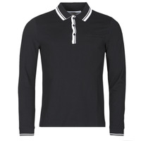 Clothing Men Long-sleeved polo shirts Guess STU LS POLO Black