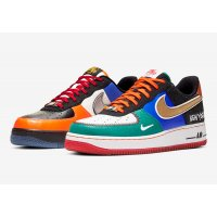 Shoes Low top trainers Nike Air Force 1 Low  White/Black-Total Orange-Racer Blue