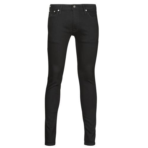 Clothing Men Slim jeans Jack & Jones JJILIAM Black