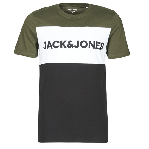Clothing Men Short-sleeved t-shirts Jack & Jones JJELOGO Kaki