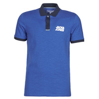 Clothing Men Short-sleeved polo shirts Jack & Jones JCOBERG Blue