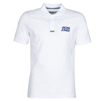 Clothing Men Short-sleeved polo shirts Jack & Jones JCOBERG White