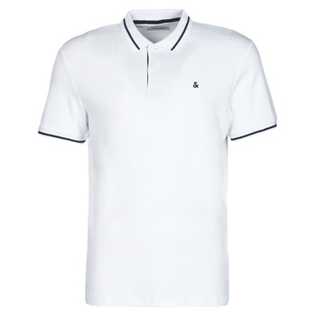 Clothing Men Short-sleeved polo shirts Jack & Jones JJEJERSEY White