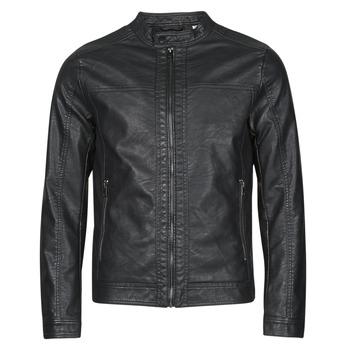 Clothing Men Leather jackets / Imitation leather Jack & Jones JJEWARNER Black