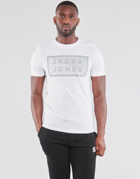 Clothing Men Short-sleeved t-shirts Jack & Jones JCOSHAWN White
