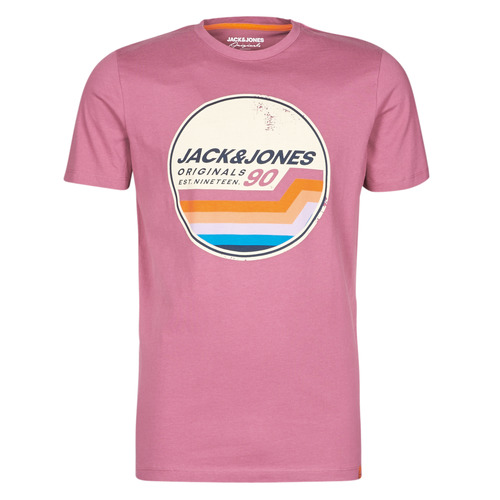 Clothing Men Short-sleeved t-shirts Jack & Jones JORTYLER Pink