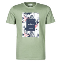 Clothing Men Short-sleeved t-shirts Jack & Jones JORFLORALL Green