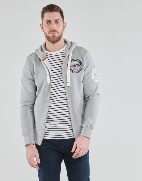 Clothing Men Sweaters Jack & Jones JJRAMING Grey