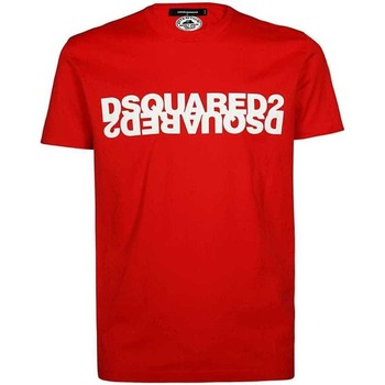 Clothing Men Short-sleeved t-shirts Dsquared S74GD0635S22427_307red red