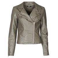Clothing Women Leather jackets / Imitation leather Only ONLGEMMA Grey