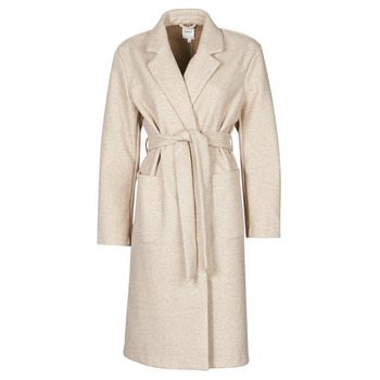 Clothing Women Coats Only ONLTRILLION Beige